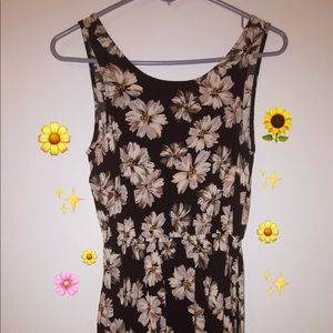 Floral Open-Backed Dress